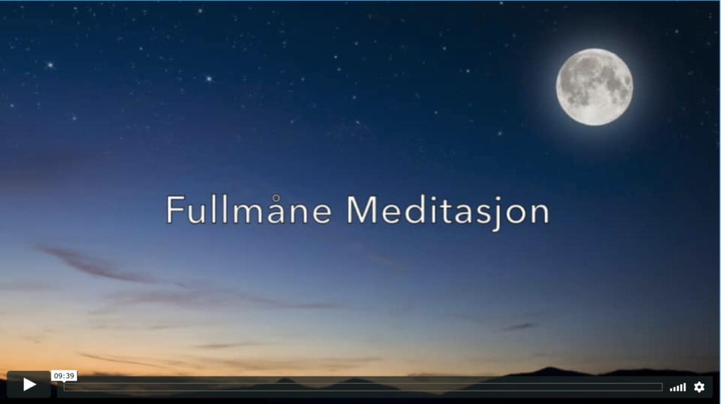 Fullmåne med spesiallaget meditasjon
