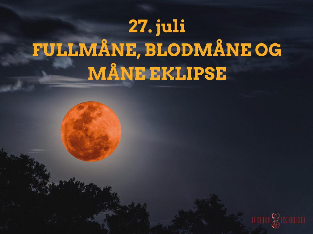 Fullmåne, blodmåne og måneeklipse